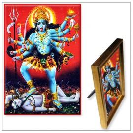 Maa Kaali Standing On Lord Shiva Photo